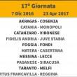 Calendario Girone C Lega Pro 2016-17: giornata 17