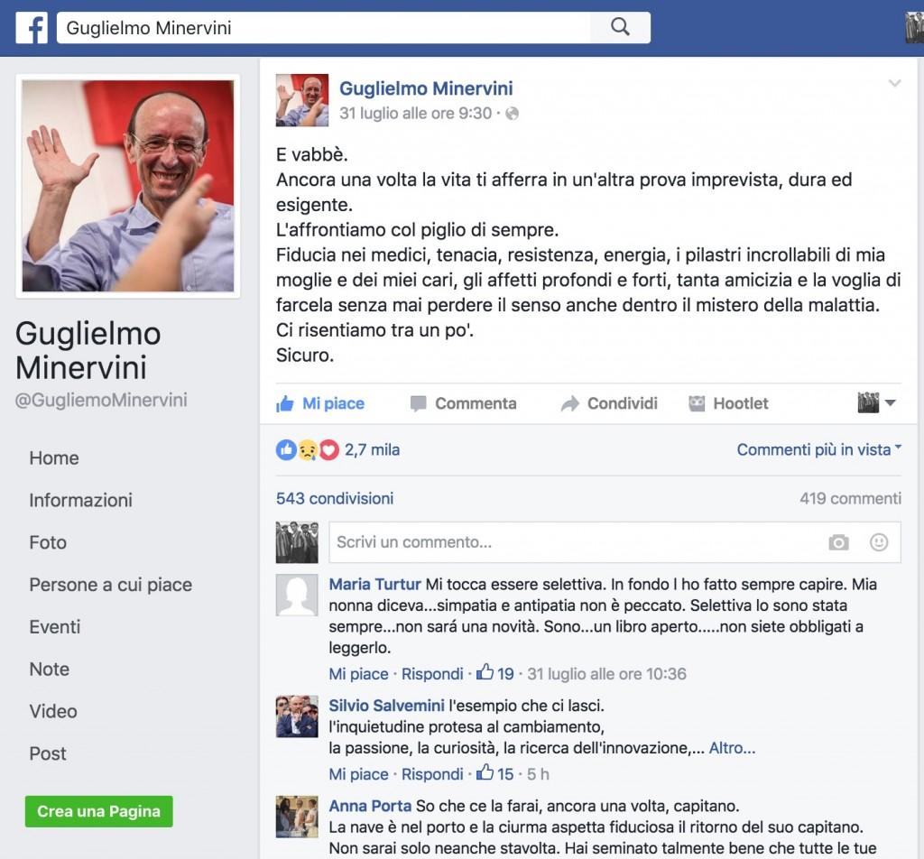 """Morto Guglielmo Minervini. A Di Maio, sulla """"lobby dei malati di cancro"""", disse: """"La conosco bene"""""""