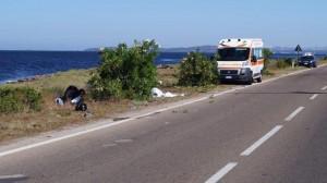Guarda la versione ingrandita di Sardegna: 2 incidenti, morti Michele Gavino Sassu e Carlo Deidda (foto Ansa)