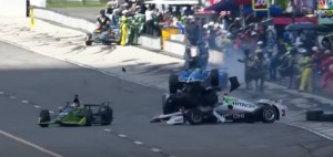 VIDEO YOUTUBE IndyCar, il volo di Alexander Rossi in corsia box a Pocono