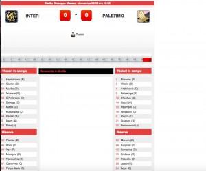 Inter-Palermo diretta. Formazioni ufficiali - video gol highlights