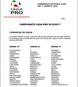 Guarda la versione ingrandita di Lega Pro girone B 2016-17: composizione del girone Centro-Nord-Est, ecco le 20 squadre