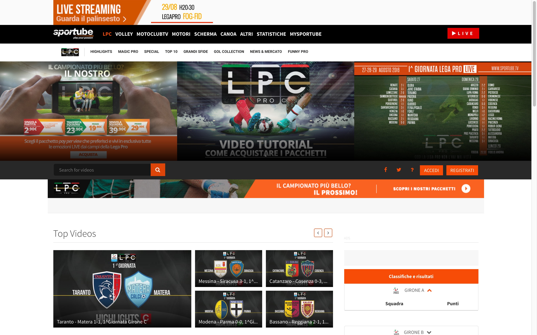 Lega Pro-Sportube: dirette streaming e highlights su Blitz