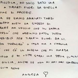 """Terremoto, lettera del vigile del fuoco a Giulia: """"Scusa se siamo arrivati tardi"""""""