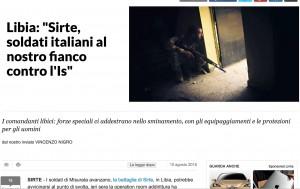 Guarda la versione ingrandita di Libia, Sirte: forze speciali italiane al fianco dei libici contro Isis (Nigro su Repubblica)