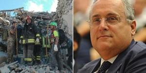 """Terremoto, Claudio Lotito ricorda la sua Amatrice: """"Le mie vacanze più belle"""""""