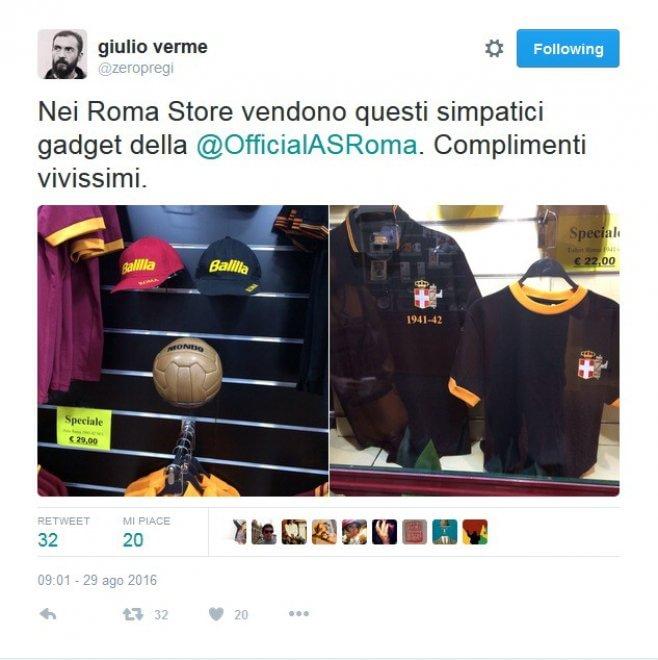 As Roma, gadget e maglie con fascio littorio FOTO. Club: non è roba nostra 2
