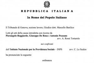 """Pensioni, contributo di solidarietà """"incostituzionale""""? Tribunale di Genova lo rinvia alla Corte"""