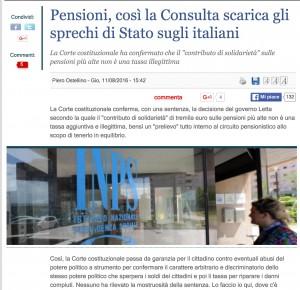 Guarda la versione ingrandita di Piero Ostellino: Pensioni e contributo di solidarietà, Corte Costituzionale scarica gli sprechi dei politici sui pensionati