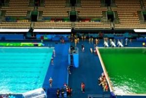 rio 2016: mistero piscina verde tuffi