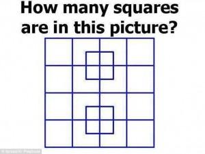 Quadrati nella figura, quanti ne vedi?