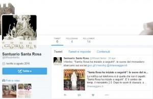 """Le suore di Viterbo su Twitter: """"Santa Rosa ha iniziato a seguirti"""""""