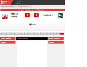 Stella Rossa-Sassuolo diretta. Formazioni ufficiali-video gol highlights