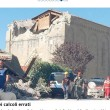 Terremoto Amatrice, chiesa di Sant'Agostino. Qui il danno causato dall'errore del calcolo che non ha tenuto conto delle finestre