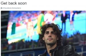 Guarda la versione ingrandita di Gianmarco Tamberi piange durante salto in alto Rio 2016 (foto da Twitter)