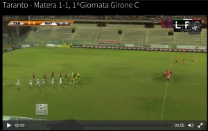 Taranto-Matera 1-1: highlights Sportube su Blitz