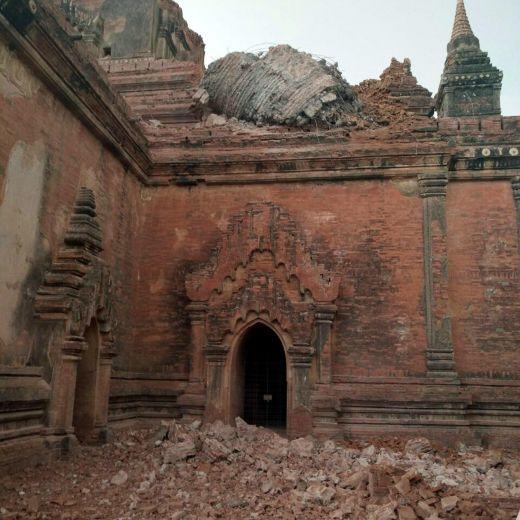 YOUTUBE Birmania: terremoto 6.8, video turista da Bagan6