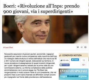 """Inps, Tito Boeri promette assunzione di 900 """"giovani"""""""
