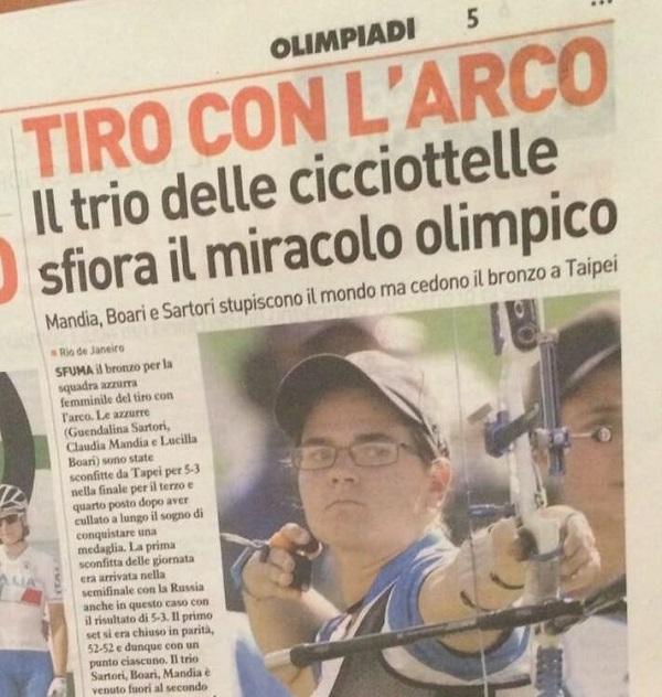 """Rio 2016, """"Il trio delle cicciottelle"""": bufera sul titolo del Resto del Carlino"""