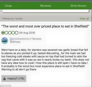 GB: non pagano e stroncano ristorante su Tripadvisor. Proprietario si vendica così