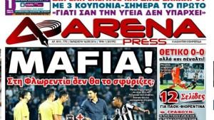 "Paok-Fiorentina, stampa greca: ""Mafia""."