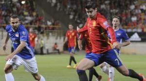 """Morata: """"Chiellini salta Italia-Spagna? Le mie caviglie apprezzeranno"""""""