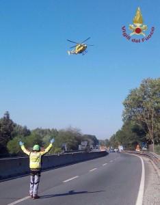 Incidente sulla Firenze-Pisa-Livorno: feriti due motociclisti, uno è grave