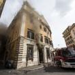 A fuoco centralina al centro di Roma 3