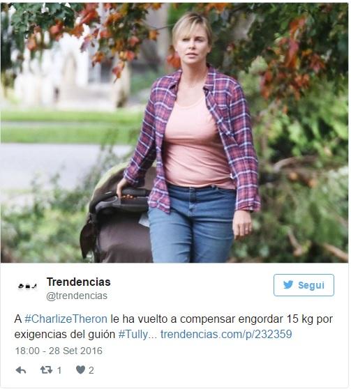 Charlize Theron obesa FOTO: ecco perché è ingrassata