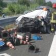 Civitanova, schianto in autostrada muore coppia coniugi. Grave figlia di 6 mesi