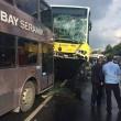 Conducente picchiato con ombrello bus finisce sopra auto8