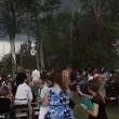 Crolla albero durante cerimonia di nozze2