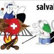 Frontalieri italiani mangiano formaggio mentre svizzeri dormono2