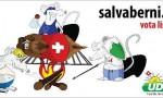 Frontalieri italiani mangiano formaggio mentre svizzeri dormono: le vignette razziste FOTO
