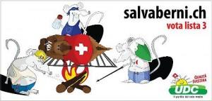 Guarda la versione ingrandita di Frontalieri italiani mangiano formaggio mentre svizzeri dormono: le vignette razziste FOTO