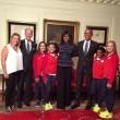 La spaccata di Barack Obama all'incontro con gli atleti6