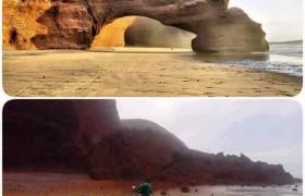 Marocco, crolla spettacolare arco naturale Legzira su Atlantico FOTO