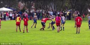 Rugby, a 9 anni è troppo grosso6