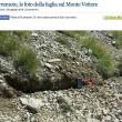 Terremoto, il versante del monte Vettore è scivolato di 10 centimetri