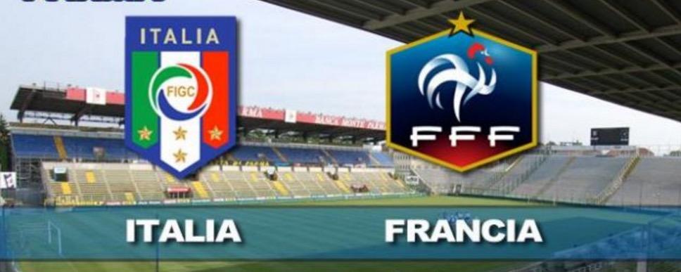 Italia-Francia, formazioni ufficiali e video gol highlights
