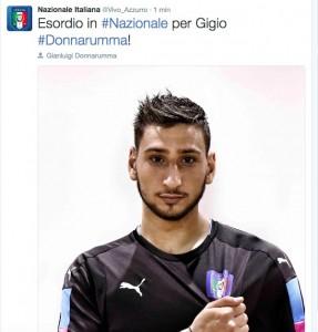 Guarda la versione ingrandita di Foto dal Twitter della Nazionale Italiana