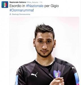 Gianluigi Donnarumma da record: esordio in Nazionale a 17 anni