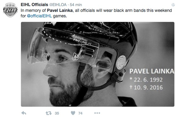 Hockey ghiaccio, Pavel Lainka: arbitro colpito da disco muore dopo 2 settimane