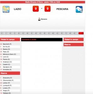 Lazio-Pescara diretta live su Blitz. Formazioni ufficiali-video gol highlights