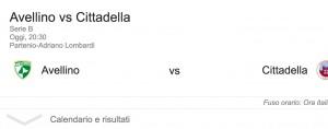 Avellino-Cittadella streaming-diretta tv, dove vedere Serie B