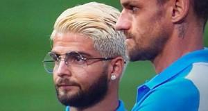 Guarda la versione ingrandita di Napoli, Maurizio Sarri-Lorenzo Insigne siparietto sul look del giocatore