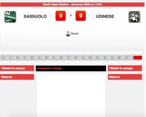 Sassuolo-Udinese, diretta live. Formazioni ufficiali-video gol highlights