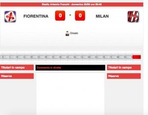 Fiorentina-Milan, diretta live. Formazioni ufficiali-video gol highlights