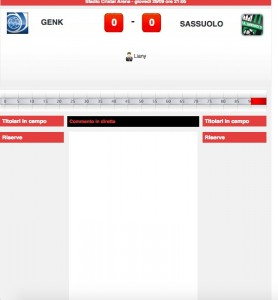 Genk-Sassuolo diretta live. Formazioni ufficiali dopo le 20