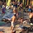 Texas, mega rissa in piscina tra turisti britannici